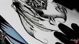 Murciélago BlackWork | Black Rose Studio
