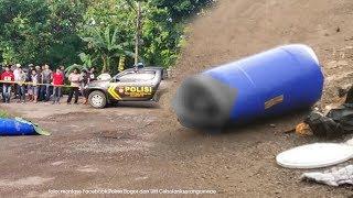 Sesosok Mayat Ditemukan di Dalam Tong Biru, Posisinya Meringkuk