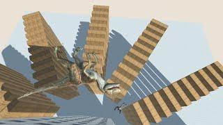 UPDATED VELOCIRAPTOR on Wobbly Building vs ALL UNITS Animal Revolt Battle Simulator