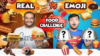 FOOD EMOJI VS REAL FOOD EATING CHALLENGE   Food Emoji Food Eating Competition   Food Challenge