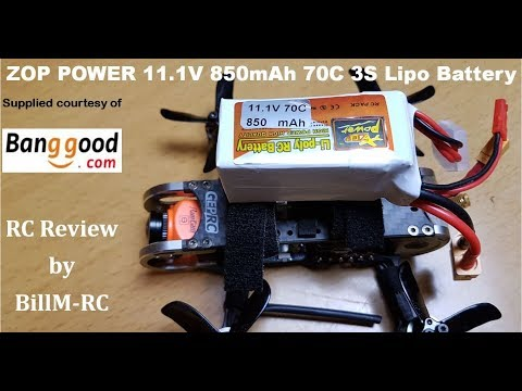 ZOP POWER 11.1V 850mAh 70C 3S Lipo Battery review & test on a Geprc GEP-CX Cygnet 115mm 2 Inch RC Brushless FPV Racing Drone.