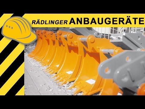 Rädlinger Anbaugeräte - Tilt-Motoren, Baggerlöffel & Schaufeln -  NordBau 2016  4K