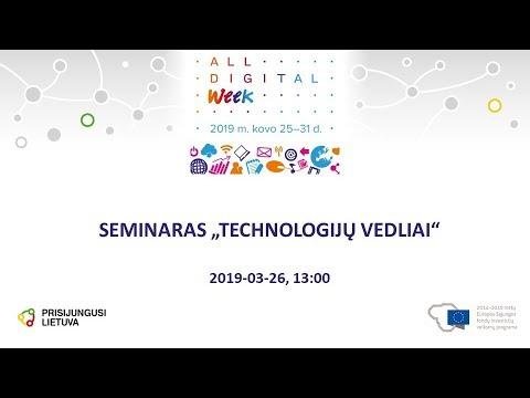 internetinių seminarų vaizdo įrašų pasirinkimas)