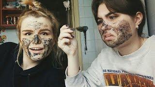 Пробуем чёрную маску из БЕЛКА и КЛЕЯ в домашних условиях//with Лена♥