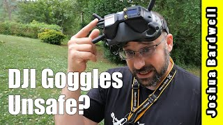 DJI FPV goggles are irradiating your face. Is it dangerous?