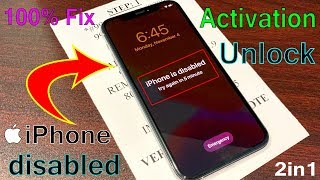 iPhone is Disabled With Activation! Remove Without iTunes or PC Unlock 1000% Fixed Done~2021