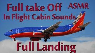 [ASMR] Plane Take Off - In Flight Cabin Sounds - Plane Landing [ASMR]