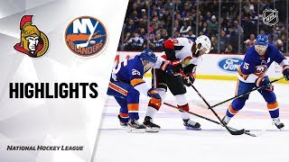 NHL Highlights | Senators @ Islanders 11/05/19