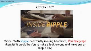 Ripple XRP news October 15th -  21st