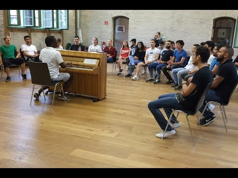 Click to watch a practice of 'Weclome Voices'