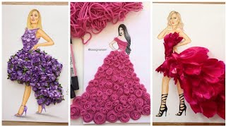 Creative Dresses Sketch Designs Collection