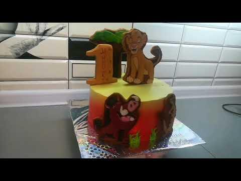 """Как самому украсить торт в стиле мультфильма """"Король Лев"""""""