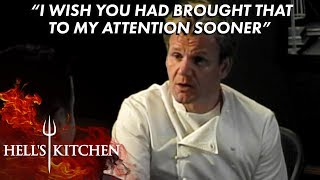 Chef Robert Has An Emotional Chat With Gordon Ramsay   Hell's Kitchen