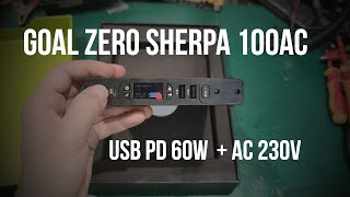 Goal Zero Sherpa 100AC - USB-C  PD 60W laptop power bank with AC inverter