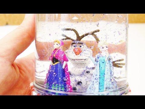 Frozen Eisköniging Glitzer Schneekugel basteln   tolle Geschenkidee   Demo