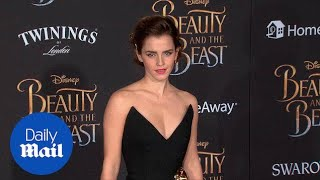 Fierce! Emma Watson is fearless at Beauty & the Beast premiere - Daily Mail