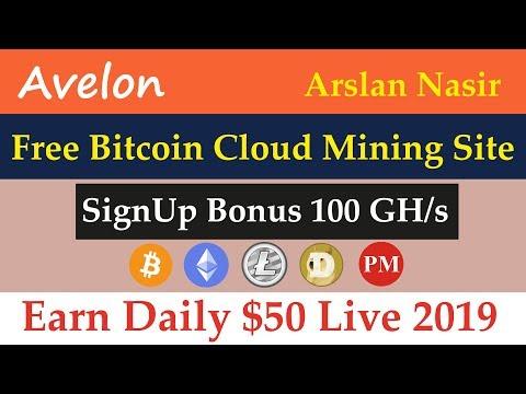 Avelon | New Free Bitcoin Cloud Mining Site | Signup Bonus