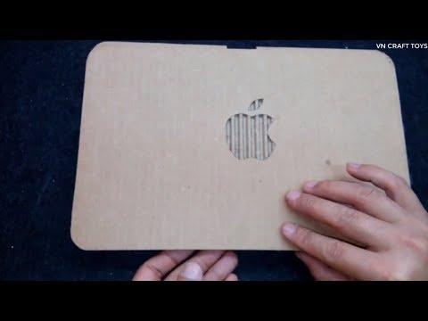 Apple laptop: cách làm máy tính xách tay bằng bìa các tông