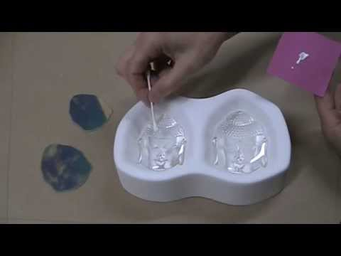 Making Dichroic Buddha Faces w/ Colour de Verre molds