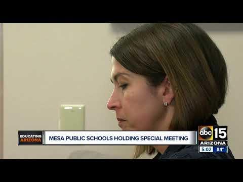 Mesa public schools holding special meeting