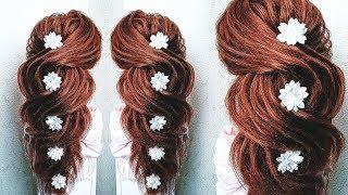 ПРИЧЕСКА на ВЫПУСКНОЙ на ДЛИННЫЕ волосы. Греческая Коса БЕЗ плойки. Prom Hairstyles for Long Hair