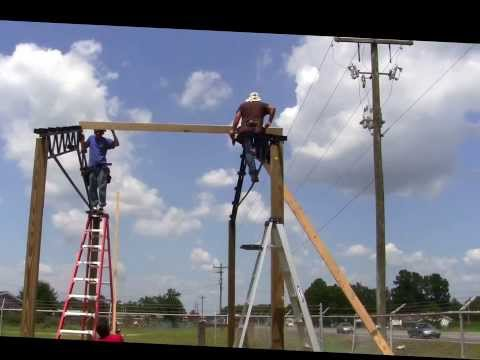 20x40x12 Steel Truss Pole Barn Part 2 How We Install Trusses And Purlins