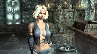 HDT Skyrim Sexy Idle animation with Havok Breast Physic