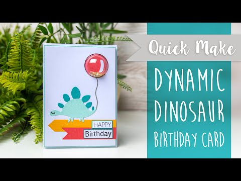 Dynamic Dinosaur Birthday Card - Sizzix