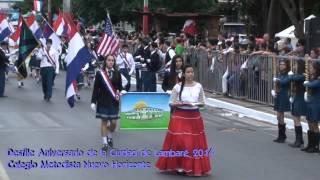 preview picture of video 'Desfile Aniversario de la Ciudad de Lambaré 2014 Full HD - Colegio Metodista Nuevo Horizonte'