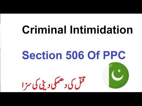 Section 506 Of Pakistan Penal Code   What Is Criminal Intimidation