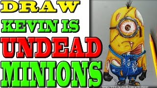 Kevin the minion is undead!!! // Drawing the minions - filmstars :D #0045 [Speed drawing]