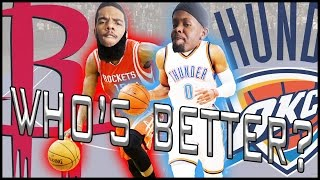 WHO'S BETTER? JAMES HARDEN OR RUSSELL WESTBROOK?! - NBA 2K17 Blacktop