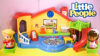 LITTLE PEOPLE Fisher Price Little People Musical Preschool a Little People Video Toy Review