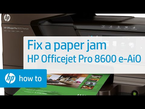 Fixing a Paper Jam on the HP Officejet 8630 | HP Officejet