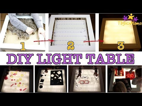 DIY LICHTTISCH (1) & 5 Spielideen dazu - LIGHT TABLE aus IKEA-LACK - günstig! / Täglich Mama