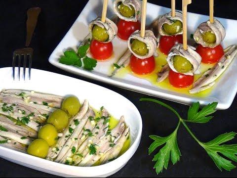 Receta Boquerones en vinagre - Recetas de cocina, paso a paso, tutorial