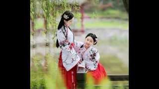 children in chinese traditional costume hanfu 兒童漢服