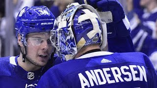 Frederik Andersen gets standing ovation after 32 save performance