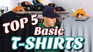 TOP 5 BASIC T-SHIRTS FOR SUMMER! MY FAVORITE ESSENTIAL TEES FOR OUTFITS