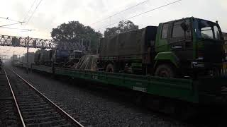 preview picture of video 'Indian Army Train Crossing in Bihiya Railway station Bhojpur Bihar'