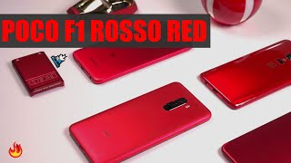 Xiaomi Pocophone F1 Rosso Red First Look - Pocophone Red