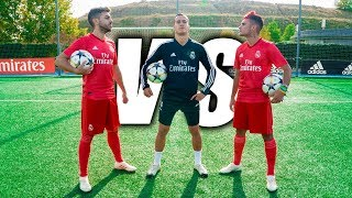 LUCAS VAZQUEZ VS DELANTERO09 - Retos De Fútbol Ft. Real Madrid CF