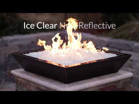 Ice Clear Non-Reflective Fire Glass | Lakeview Outdoor Designs