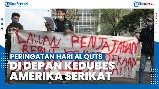 Peringatan Hari Al Quds di Depan Gedung Kedubes Amerika Serikat di Jakarta