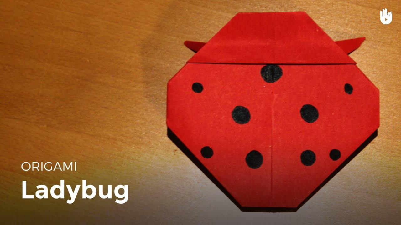 origami ladybug learn how to make origami sikana