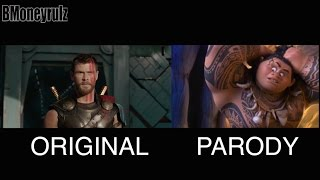 Disney's THOR: RAGNAROK Side-By-Side w/ Original Trailer