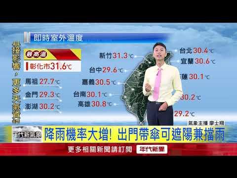 7/26高溫悶熱.午後雷雨多 氣象重點看這裡