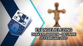 Evangelielezing diaken Jansen Deurne – 23 februari 2020 - Peel en Maas TV Venray