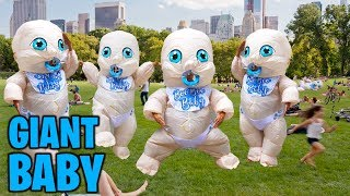 GIANT Inflatable BABIES in Public Prank!