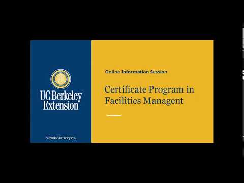 Certificate Program in Facilities Management - YouTube